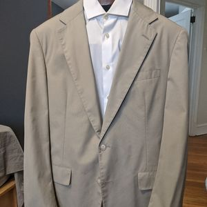 Brooks Brothers Tan half-lined blazer